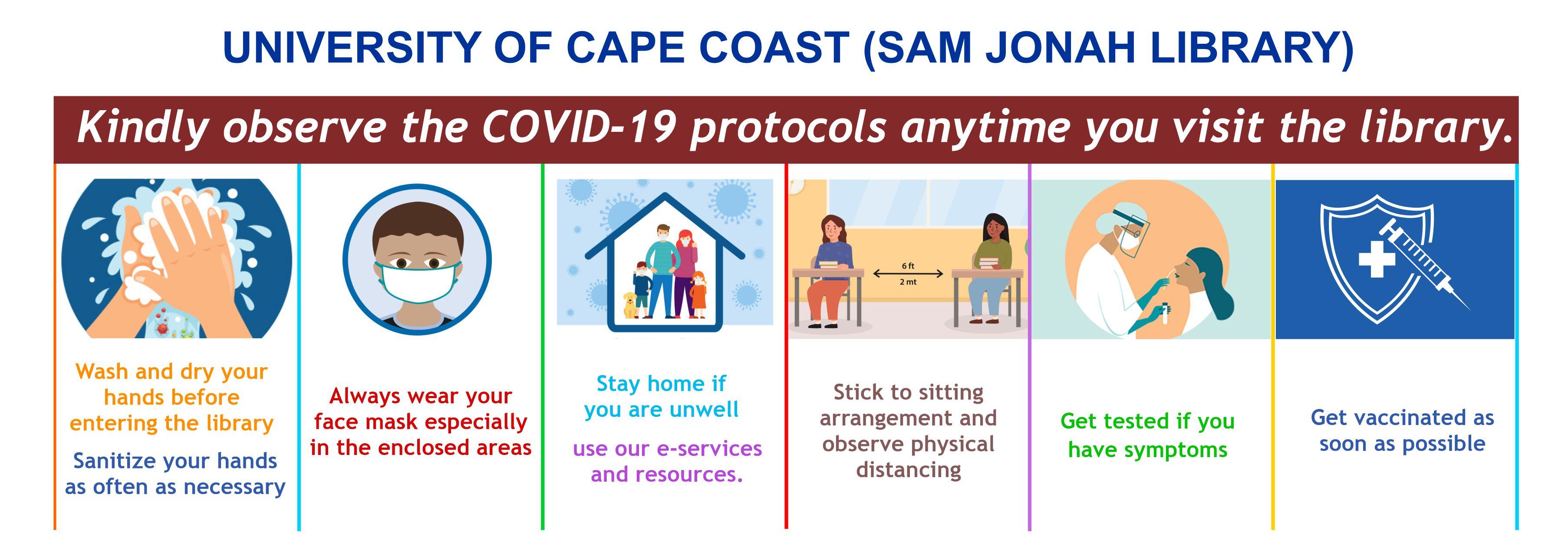 UNIVERSITY OF CAPE COAST RESPONSE TO COVID -19 AND SAFTEY PROTOCOLS